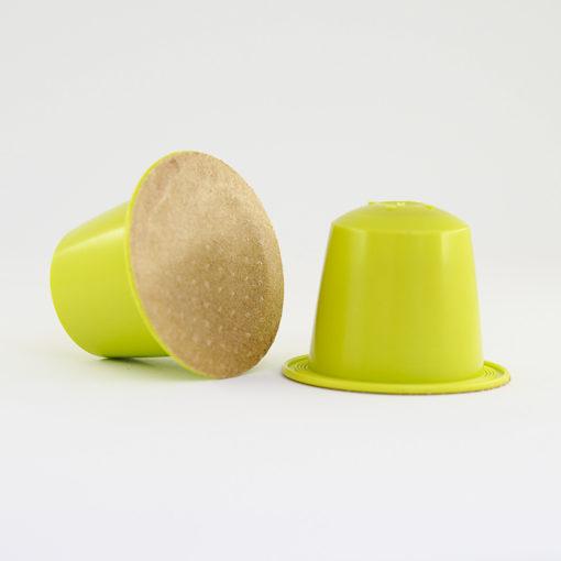 Thé vert gingembre citron vert. capsule compatible Nespresso, biodégradable et compostable, fabriquée en France, made in France