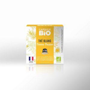 capsule biodégradable compatible nespresso thé blanc pomme passion