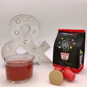 Infusion Fruits Rouges. Capsule compatible Nespresso, bioégradable et compostable, fabriqué en France, Made in France
