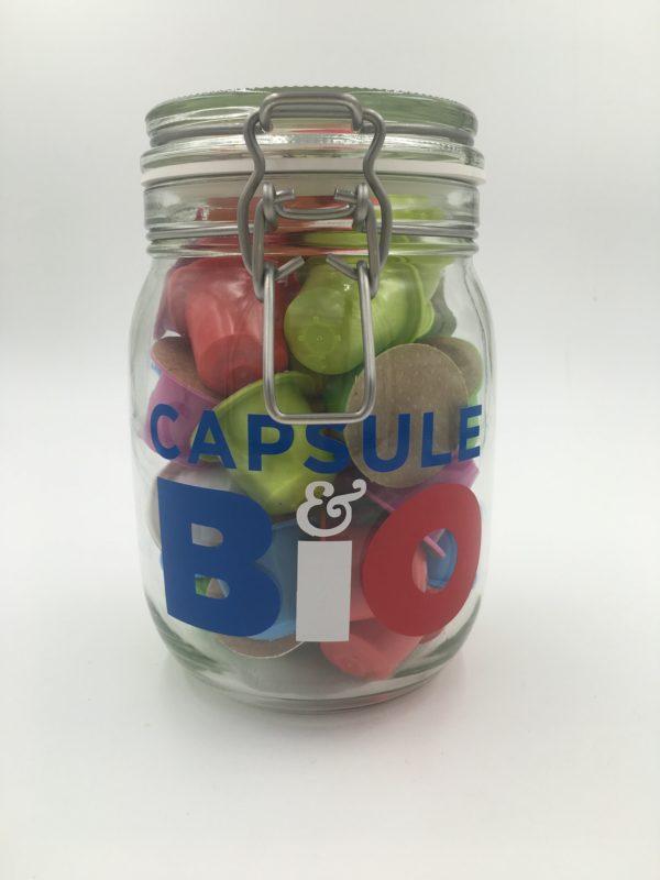 Petit bocal verre CapsuleBio