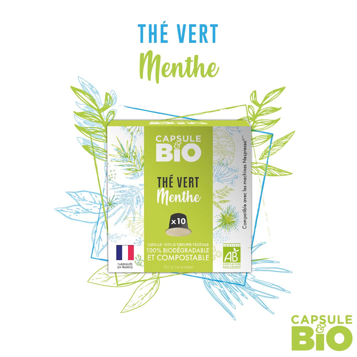 capsule thé vert bio menthe nanah compatible nespresso fabriquée en france
