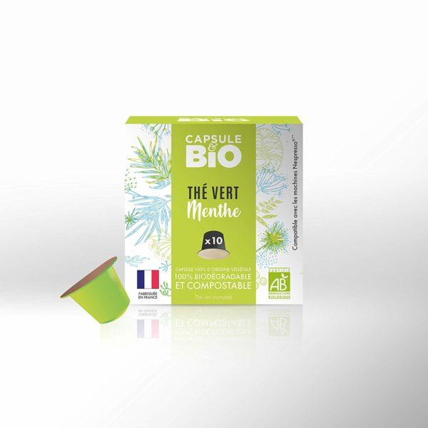 capsule thé vert biologique menthe