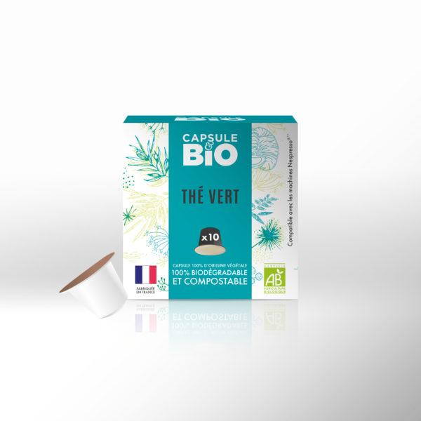 capsules thé vert bio nature