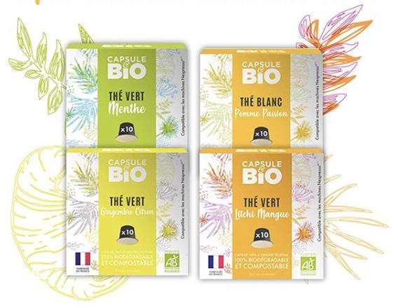 thé bio capsule compatibles nespresso