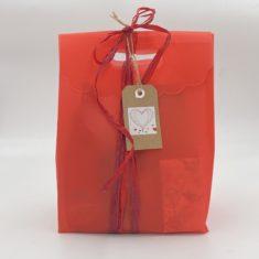 idée cadeau Saint-valentin capsules thé et capsules café biscuits coquelicot miel bio