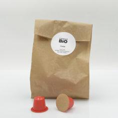 Sachet de capsules thé noir Chaï, 100% biodégradables et biocompostables, compatibles Nespresso®