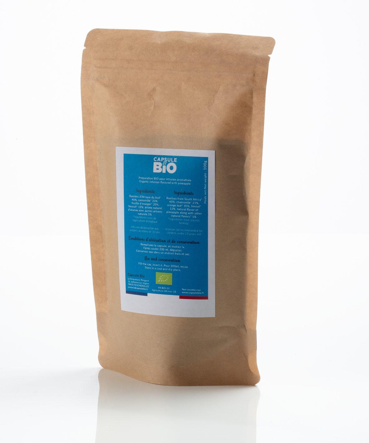 Capsulebio sachet infusion en vrac recette rooibos Digest bio