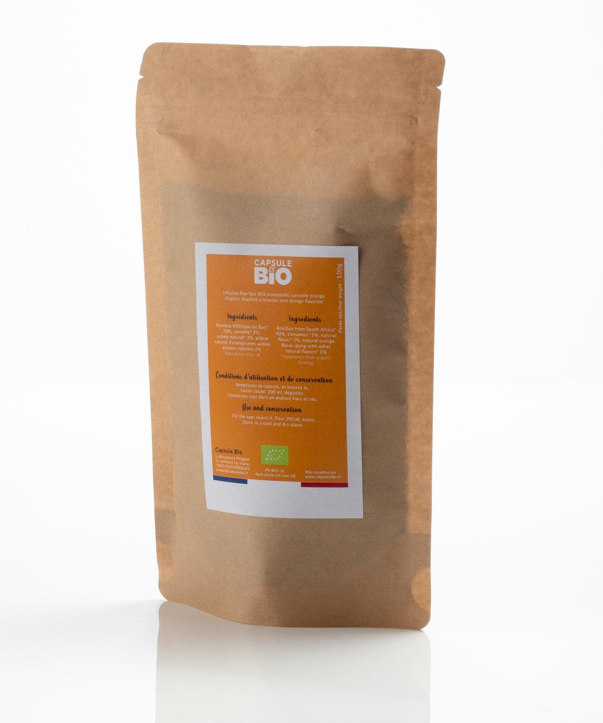 Capsulebio sachet infusion en vrac recette rooibos orange cannelle bio