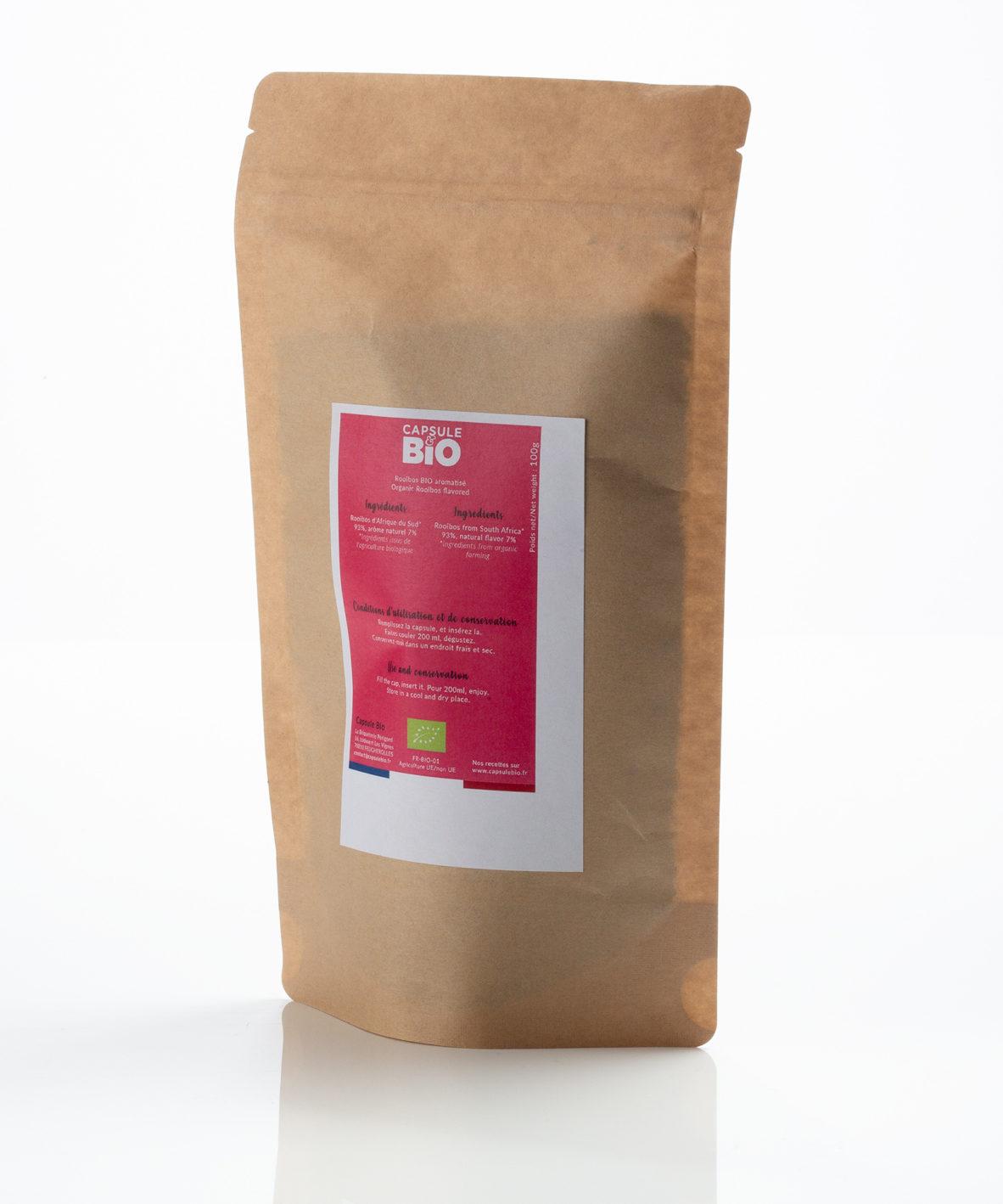 Capsulebio sachet infusion en vrac recette rooibos bio vanille